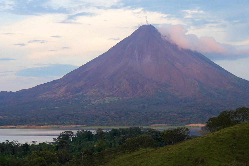 A beautiful view of the Arenal Volcano
