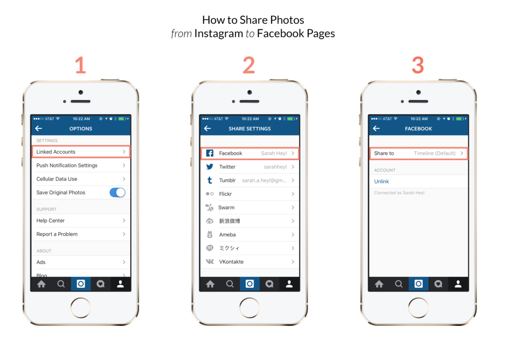 Hot to share photos on instagram