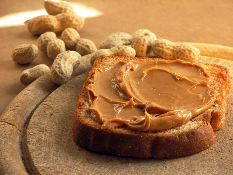 43. Peanut butter - first patented by Marcellus Gilmore Edson in 1884.