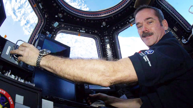 50. And, of course, celebrity astronaut, Commander Chris Hadfield.