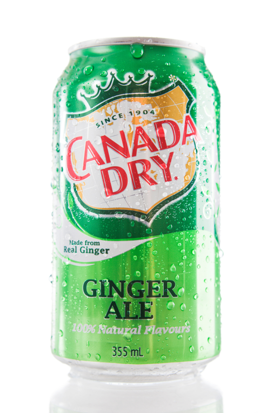 10. Canada Dry Ginger Ale - After hundreds of experiments, John J. McLaughlin achieved the perfect formula for his Ginger Ale in 1904.