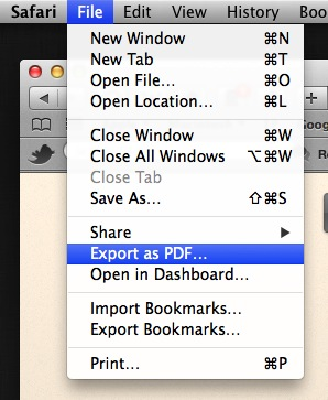 Export as PDF…