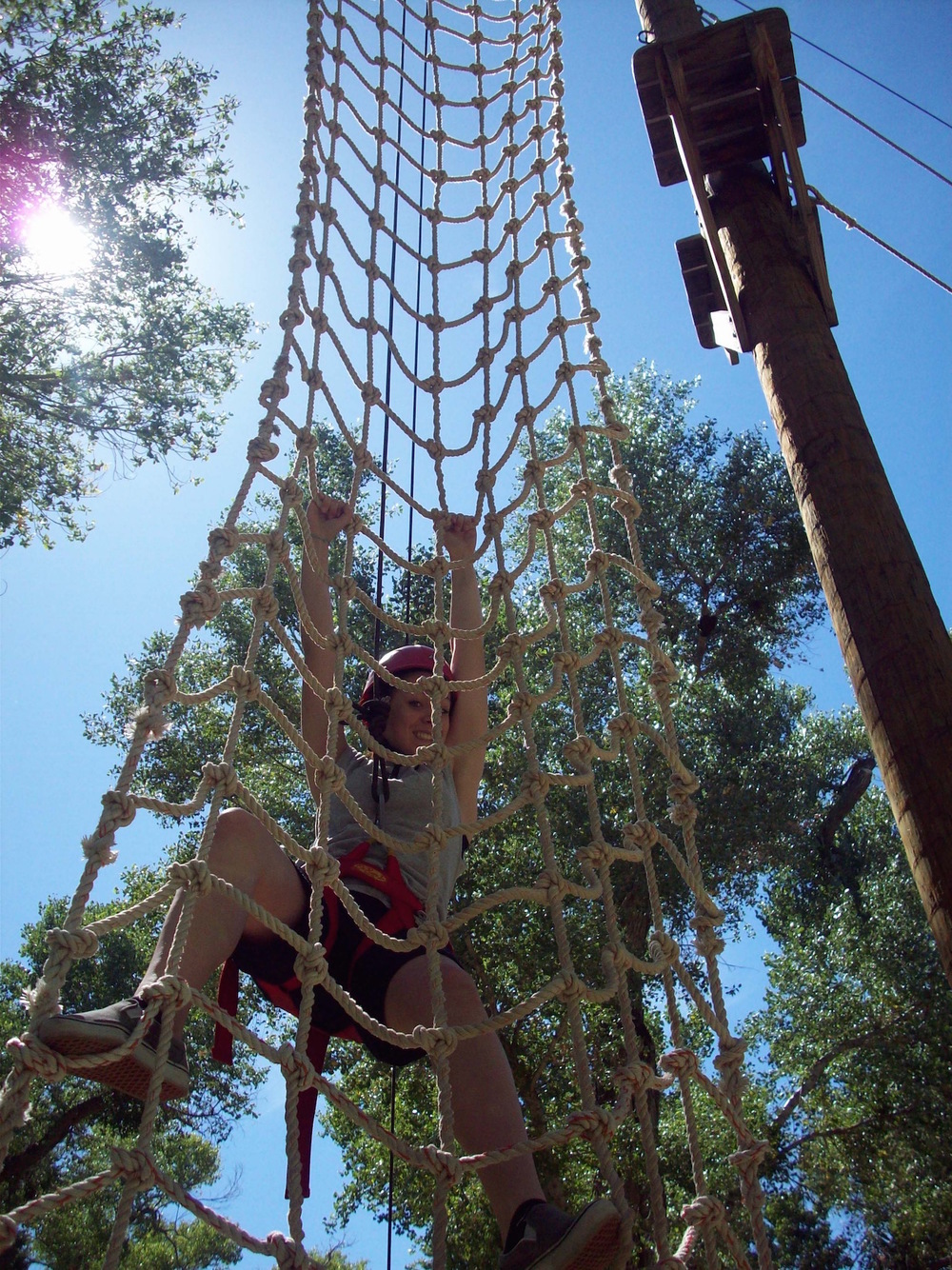 Cargo Net, an activity from our ropes course big adventure program