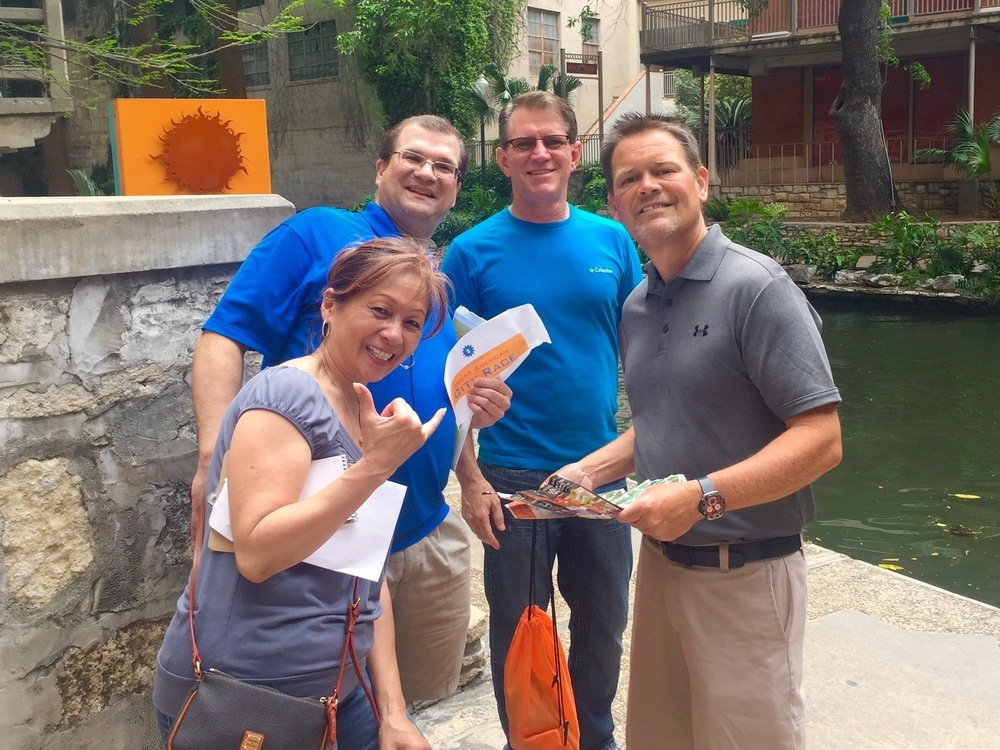 Corporate team building activities in San Antonio, including our popular Great American City Race: San Antonio event