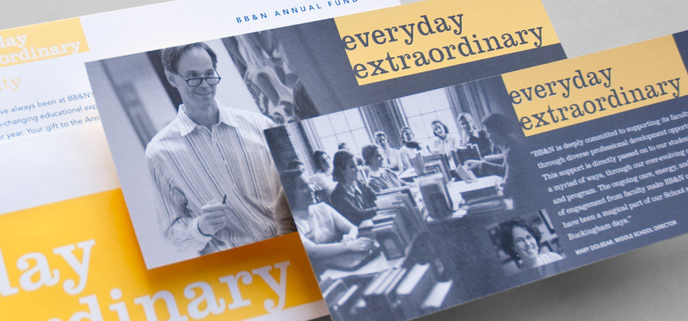 BB&N  Everyday Extraordinary  identity & appeal series