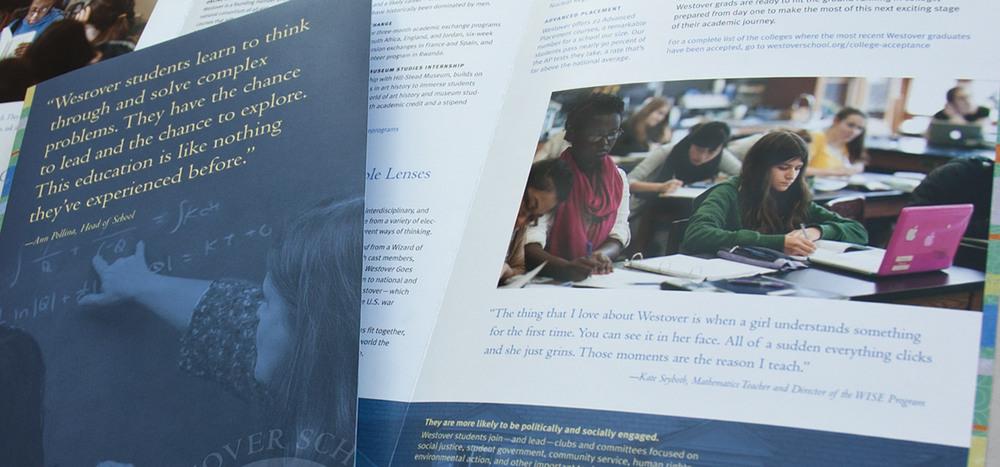 Westover School academics brochure
