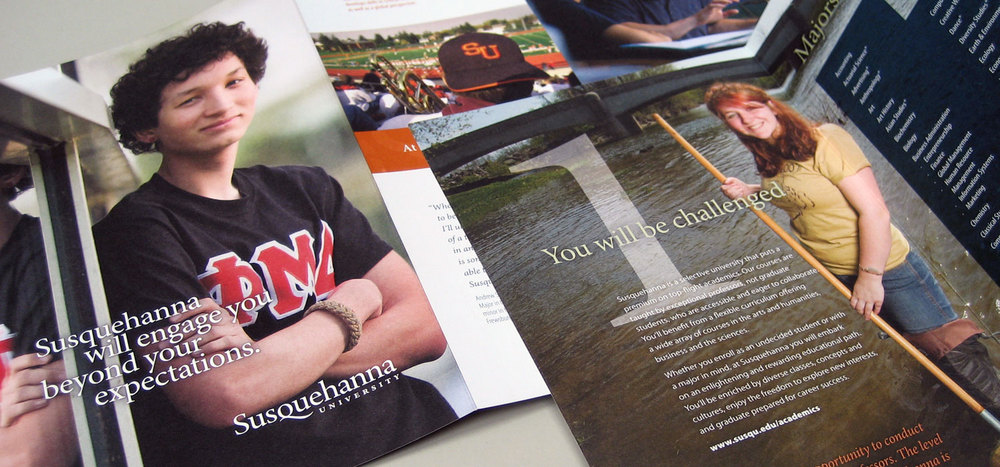Susquehanna University admissions mailer