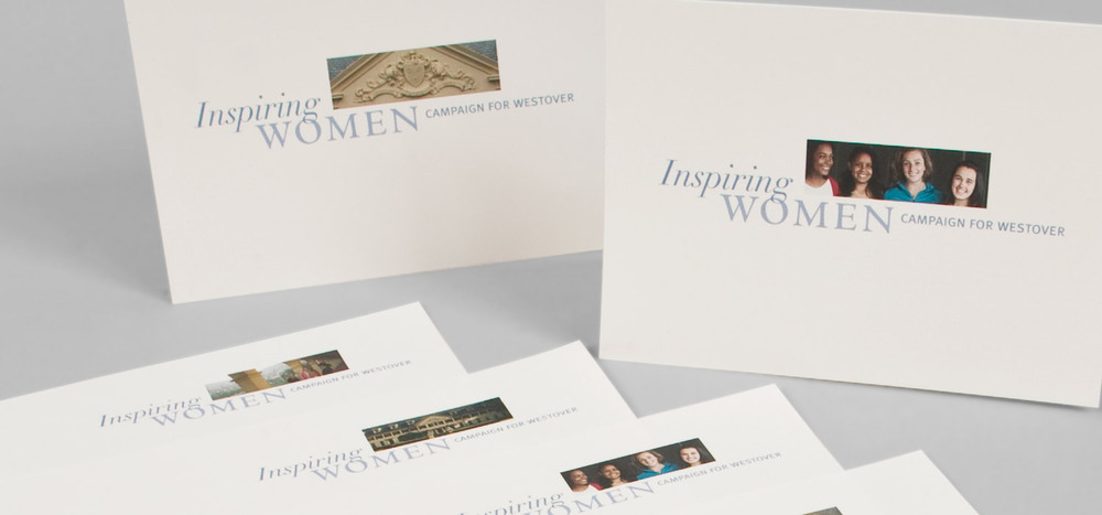Inspiring Women: Campaign for Westover  identity & stationery system