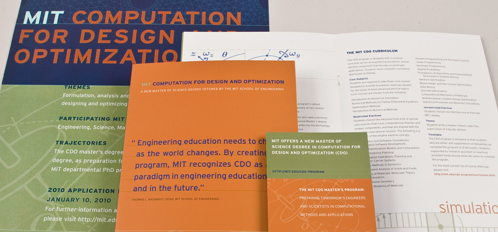 Computation for Design and Optimization admissions materials