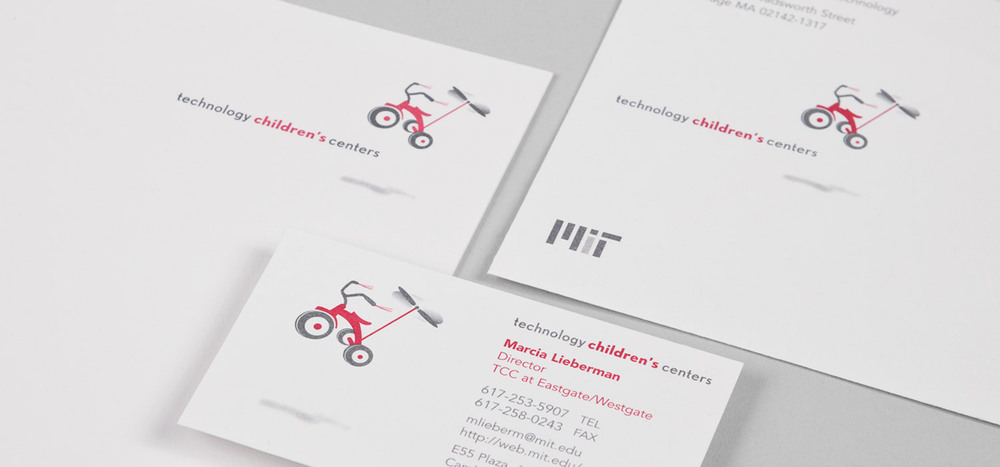 MIT Technology Children's Centers identity & stationery system