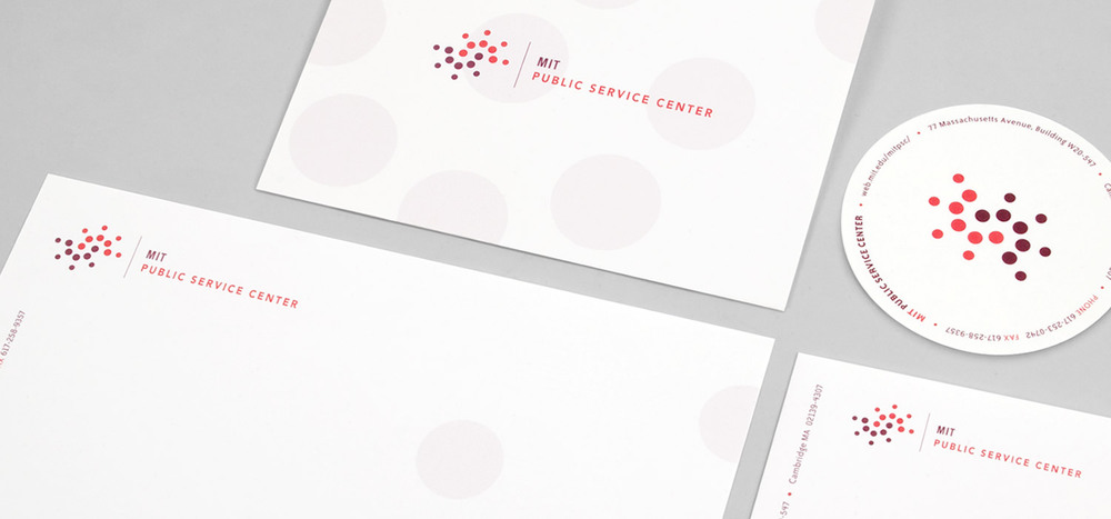 MIT Public Service Center identity & stationery system