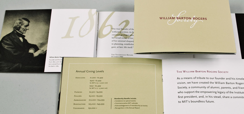 MIT William Barton Rogers Society identity & overview brochure