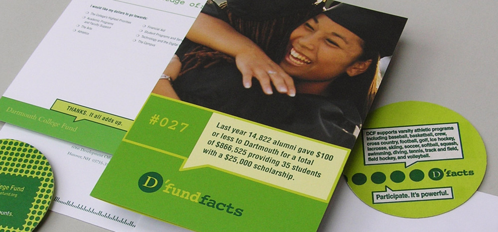 Dartmouth College Fund  D'Fund Facts  annual fund materials