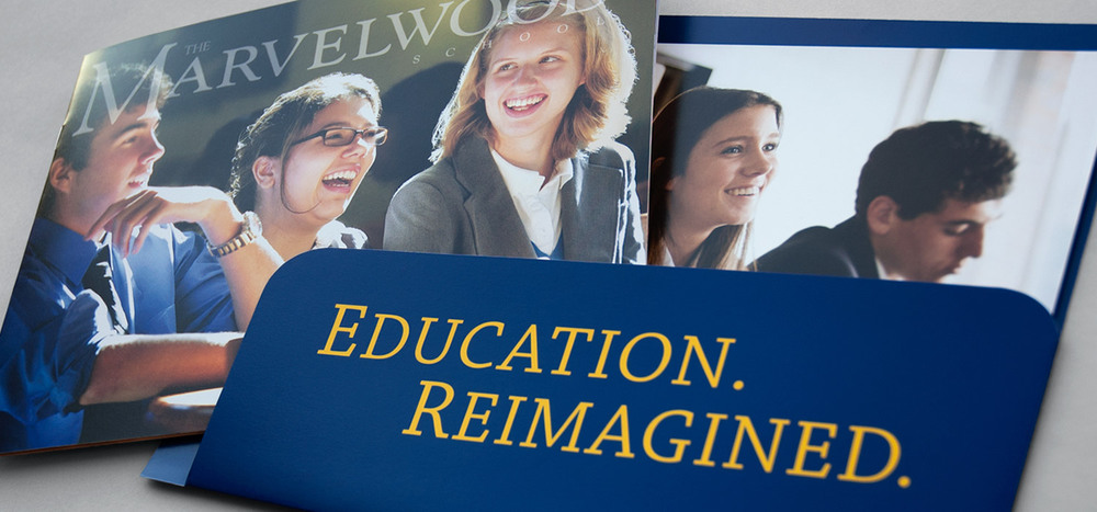 Marvelwood School admissions brochures and folder