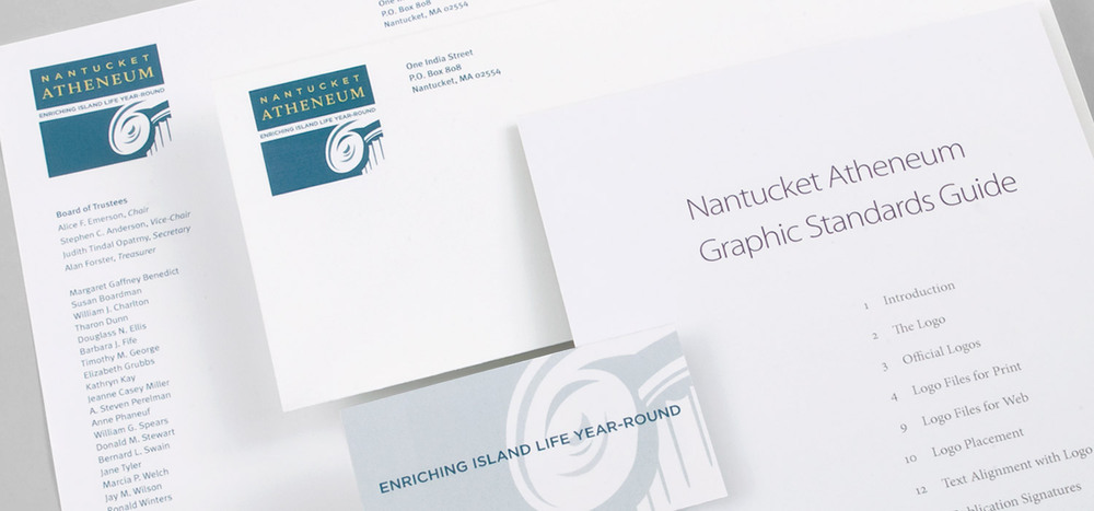 Nantucket Atheneum stationery system & graphic standards guide