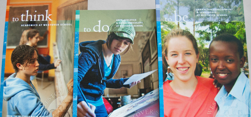 To Think, To Do, To Be  admissions mailers
