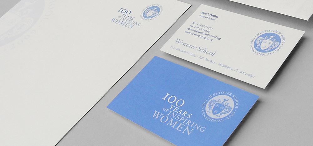 Westover Centennial identity & stationery system