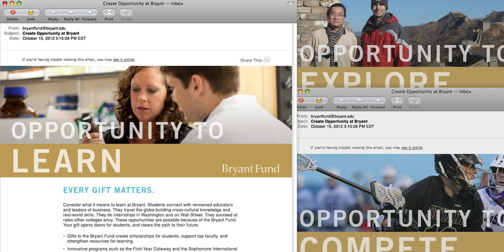 Bryant Fund email appeals