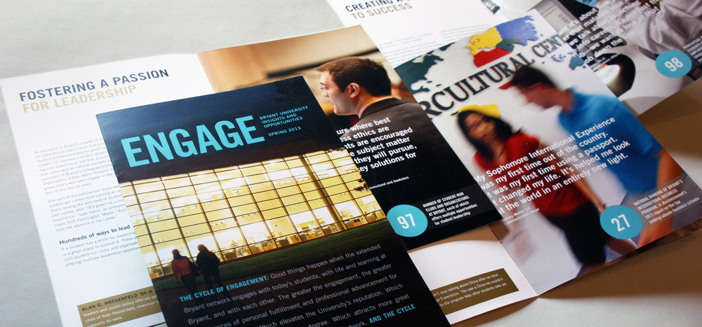 "Bryant University's ""Engage"" newsletter"