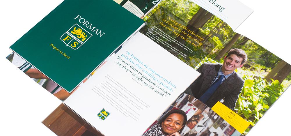 Forman School admissions materials