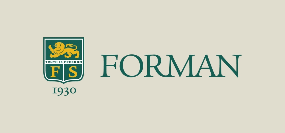 Forman School shield and wordmark