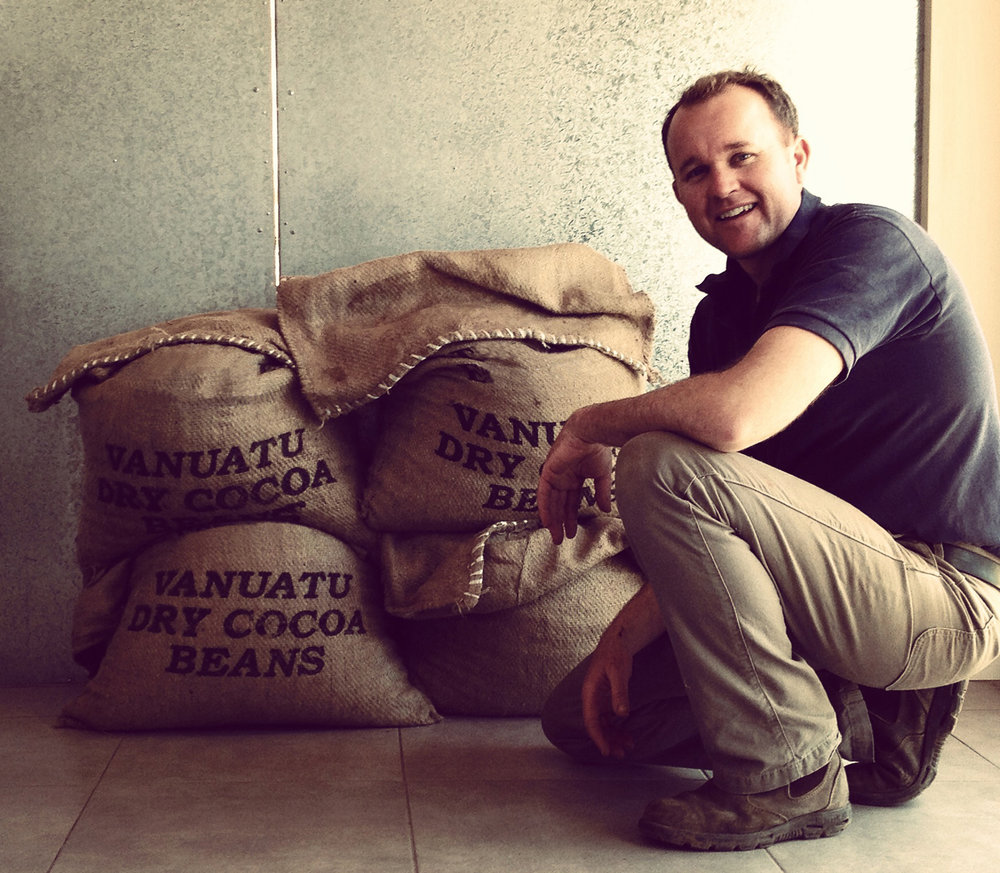 Dried vanuatu cocoa - bagged ready for shipping to Spencer Cocoa Australia