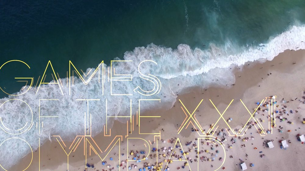 main title design | Olympic Late Night | Rio 2016