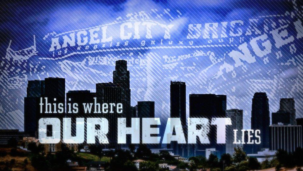 We Stand for Los Angeles | sports promo design | jonberrydesign