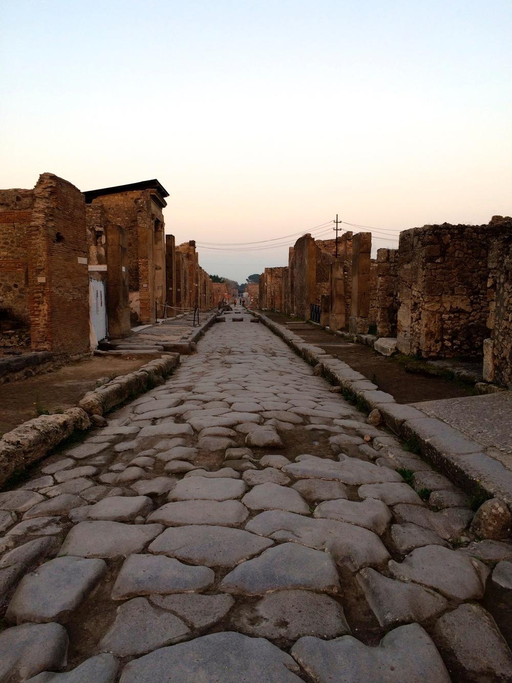 Streets of Pompeii, Sicily