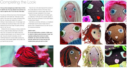 "A spread from the book ""Knitted Babes"""
