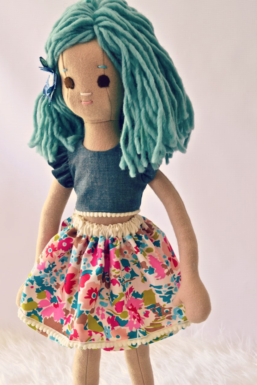 Mermaid doll with skirt