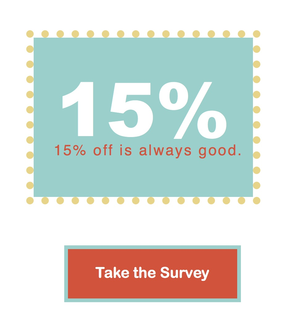 Phoebe&Egg Survey and Discount