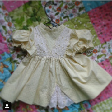 Handmade Doll Dress#2 (photo from Instagram)