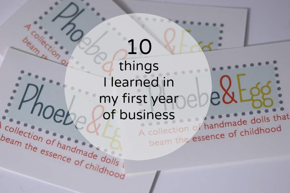 My first year in business