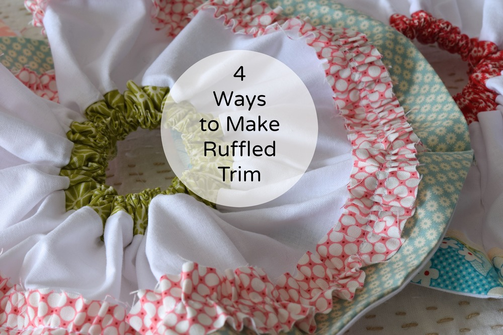 Ruffled trim tutorial