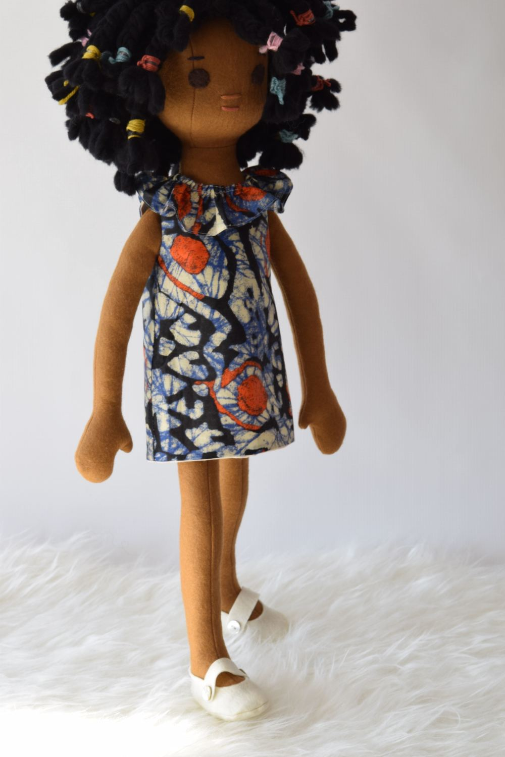 African dress on doll