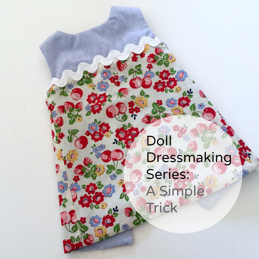Doll Dressmaking a simple trick
