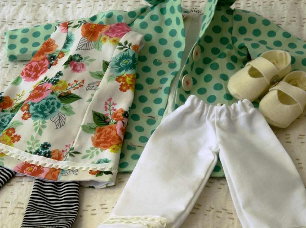 Spring doll clothes set