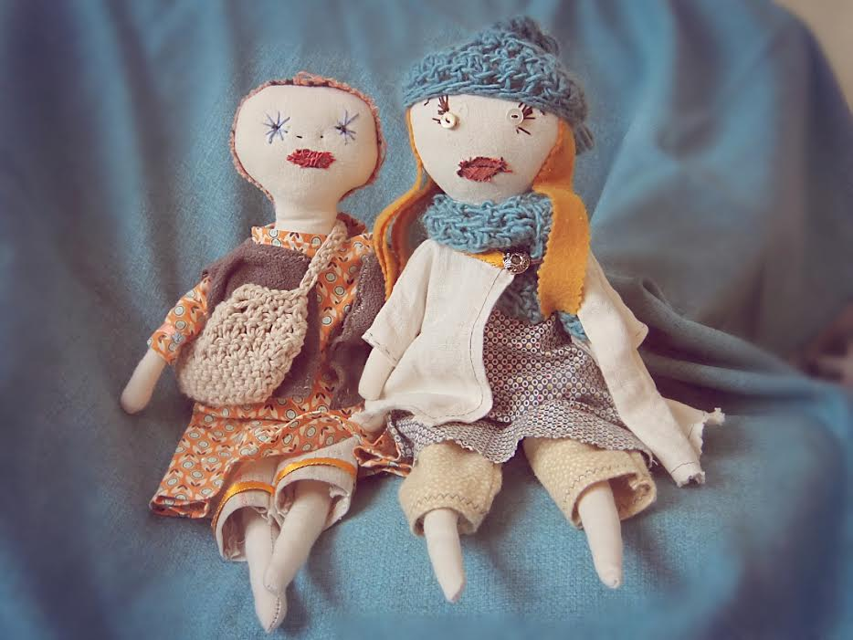 Amy's Jess Brown rag dolls