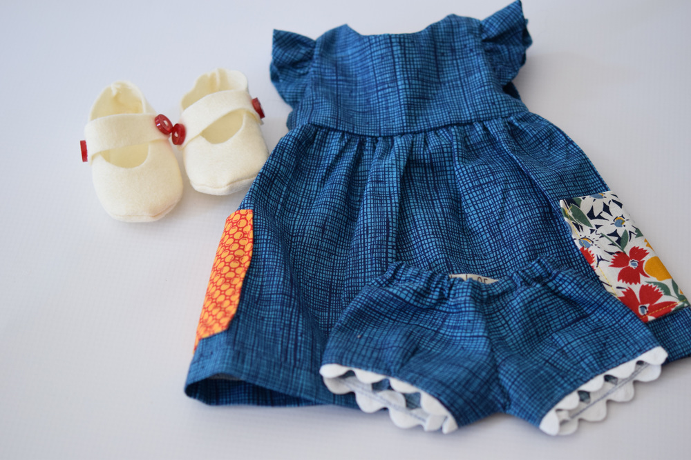 Crosshatch Doll Play Dress