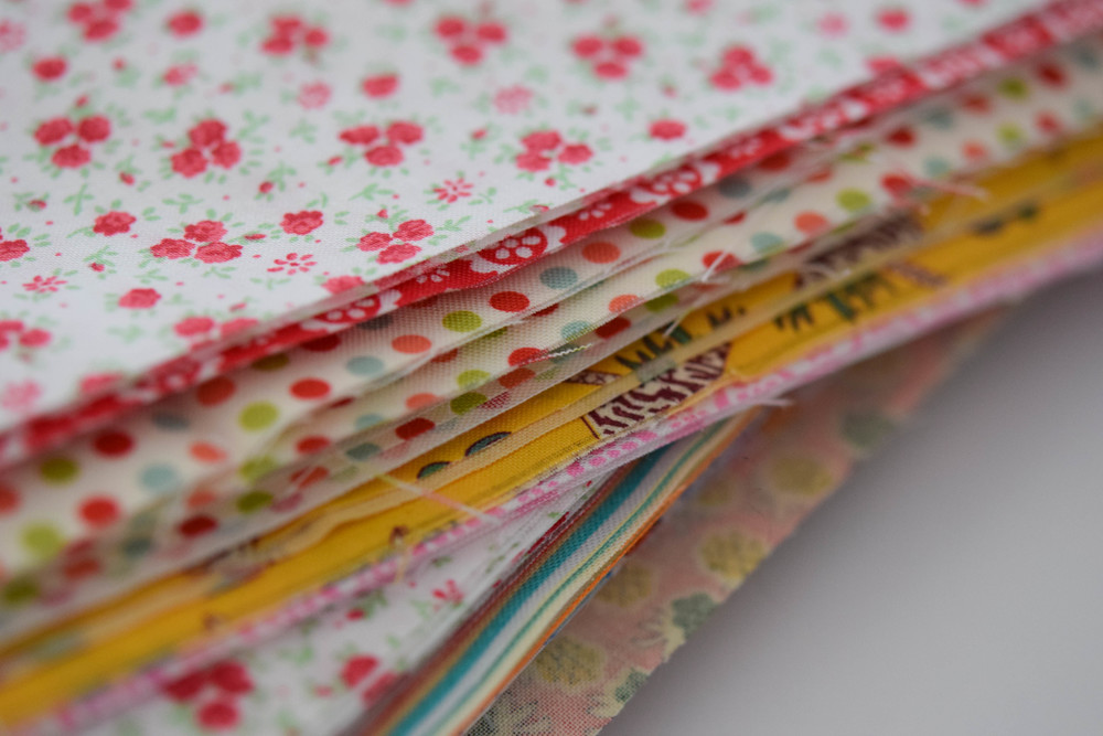 New stack of fabrics for the kits!