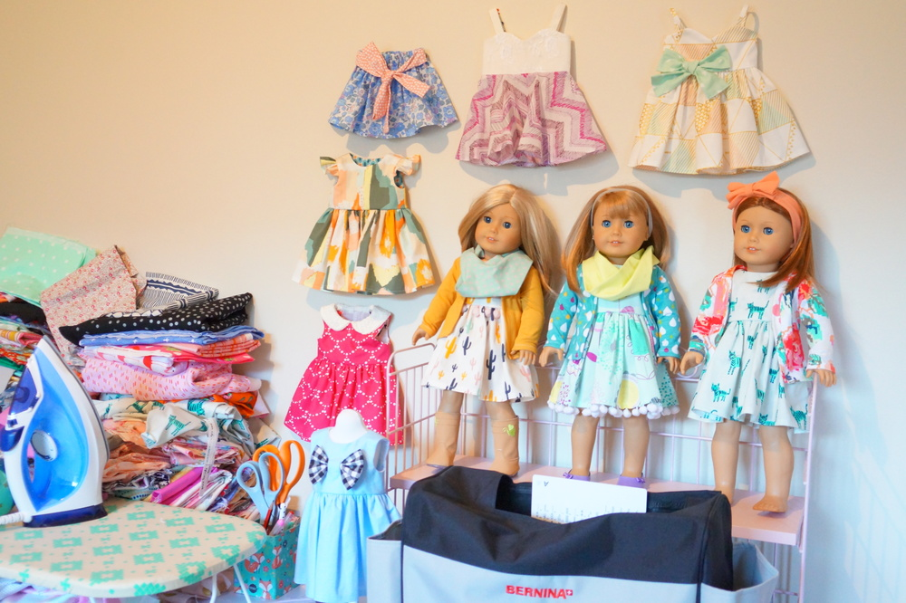 Ally sews doll Dresses