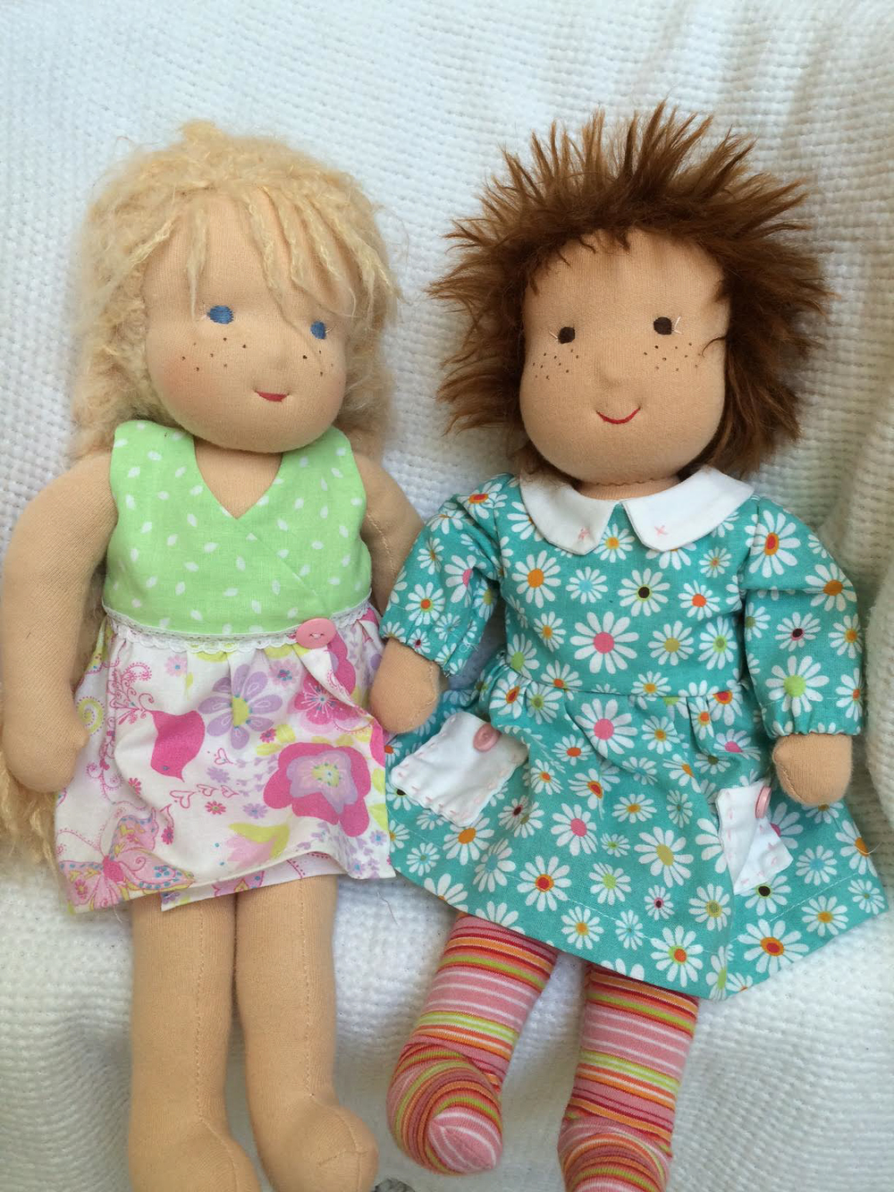 Maggie's large rag dolls