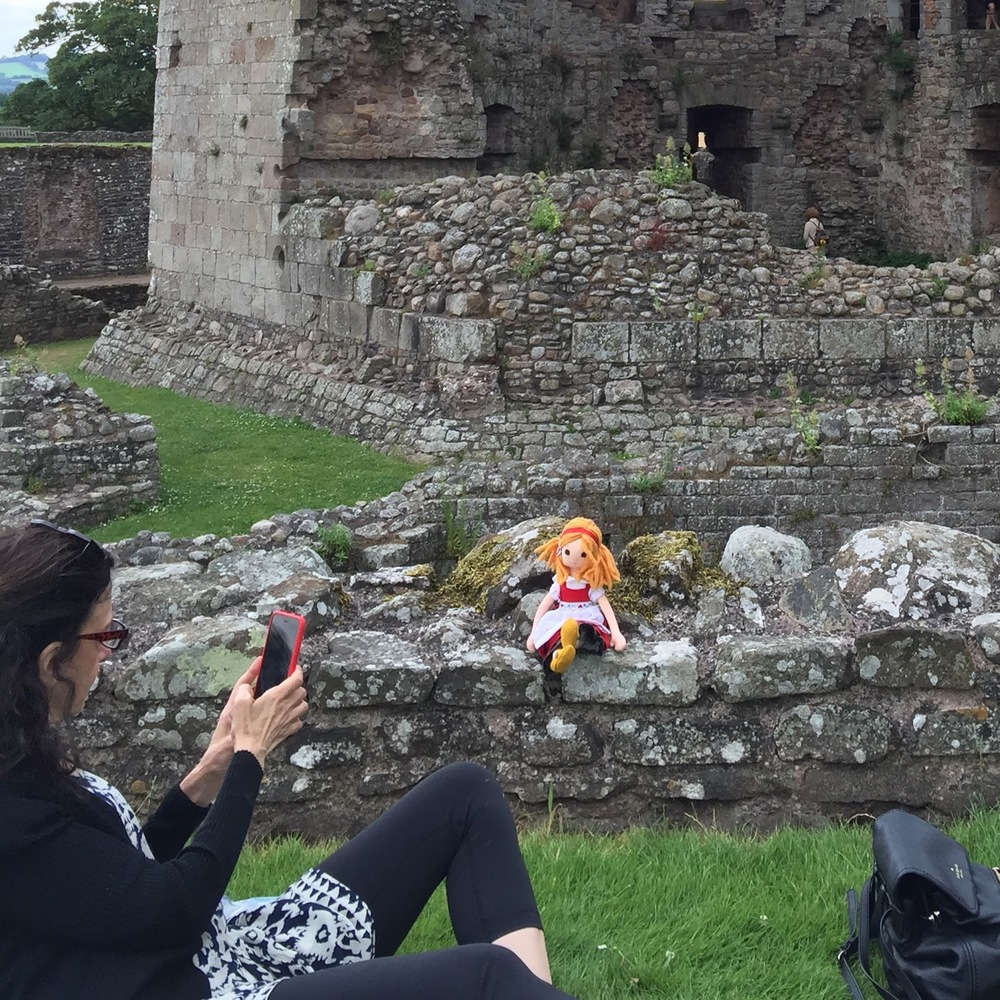 Phoebe goes to Raglan Castle
