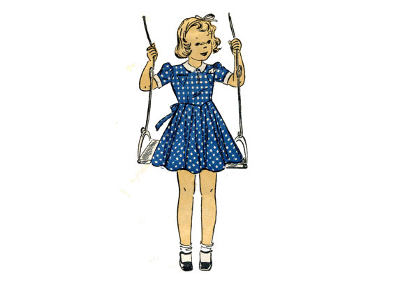 Girl's Dress Pattern from AllsFairyVintage