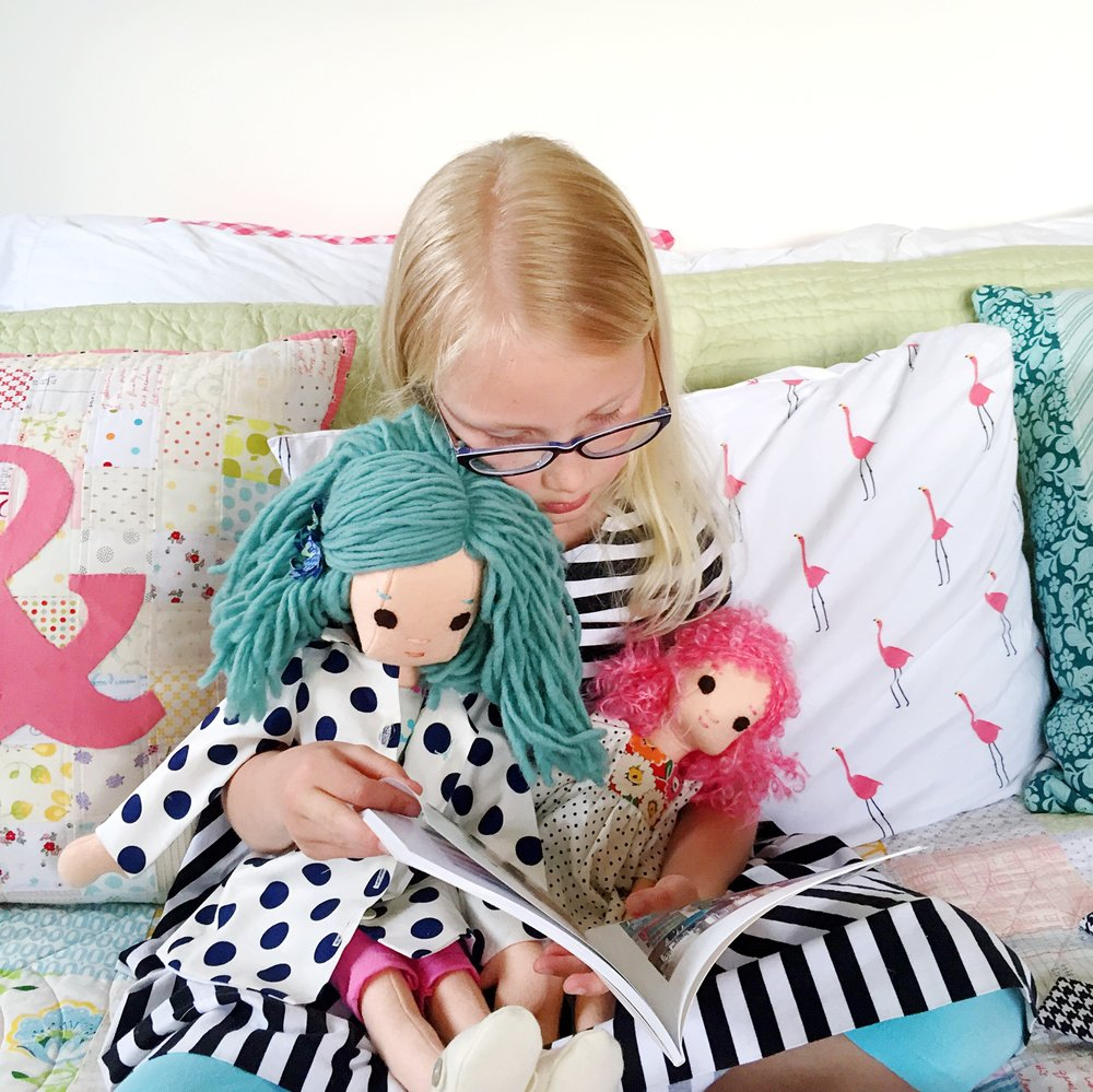 Claire with dolls