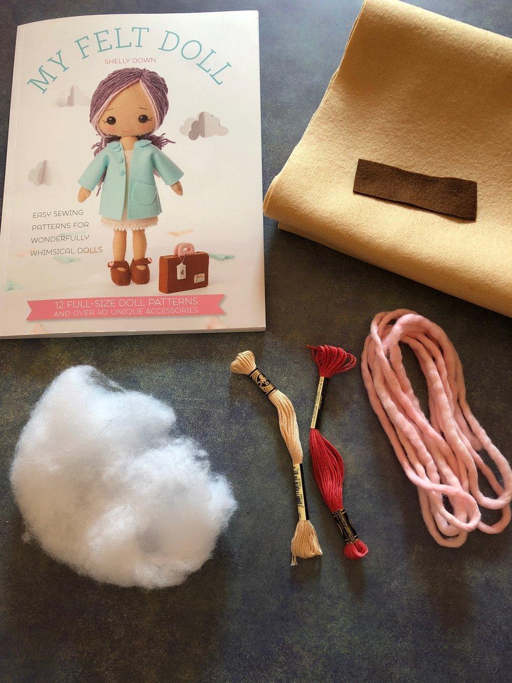 Felt Doll Materials