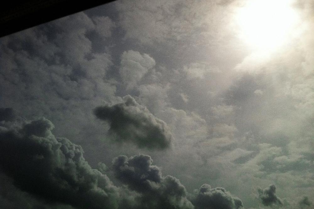 sun chasing clouds