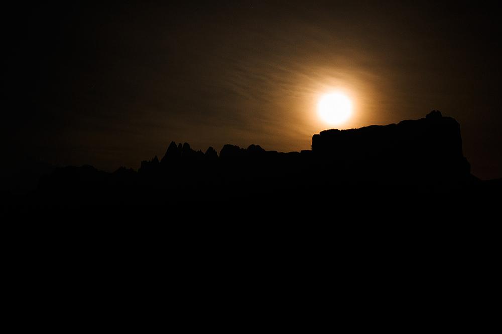 dolomites - full moon - midnight