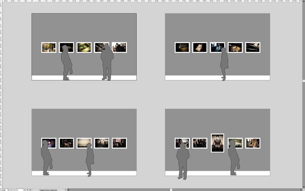 Wall layout of YAKUZA at Head On Photo Festival in Sydney, Australia